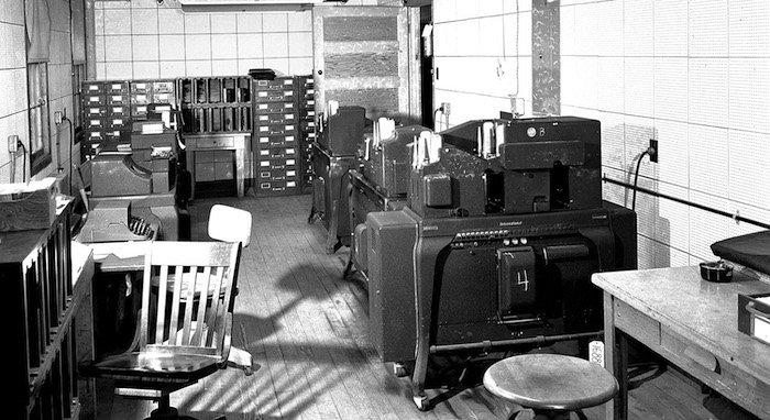 Las primeras máquinas de cálculo de IBM que se utilizaron en Los Alamos.
