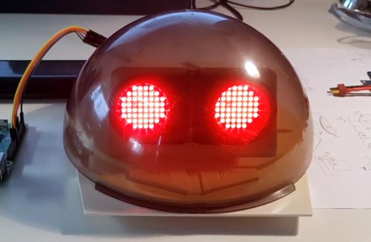 Omnibot From the 80s obtiene ojos de matriz LED, cámara