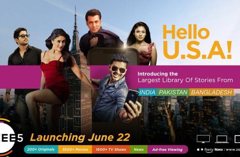 El servicio de streaming del sur de Asia Zee5 se lanza en los EE. UU.