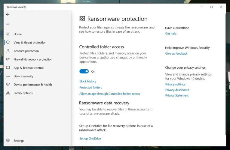 Windows 10 tiene una función de protección contra ransomware oculta; aquí se explica cómo usarla