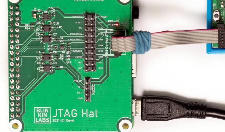 JTAG Hat convierte Raspberry Pi en un depurador en red