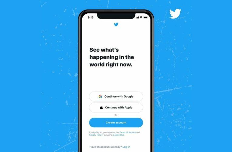Los usuarios de Twitter ahora podrán iniciar sesión / registrarse a través de una cuenta de Google o ID de Apple