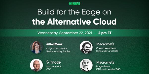 Seminario web de panel en vivo: Llevando la innovación al límite con la nube alternativa